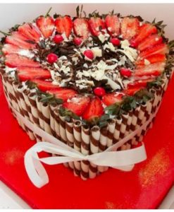 Buy Fruit Salado Redvelvet cake online Lagos Abuja Port Harcourt
