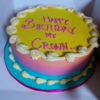 Purple and Yellow Butter Cream Cake Online Lagos Abuja Nigeria