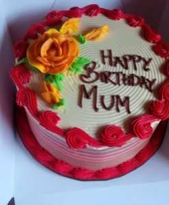 Red and Butter Cream Cake