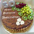 silver and gold 50th birthday cake waracake