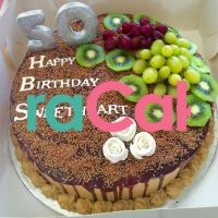 silver and gold 50th birthday cake waracake