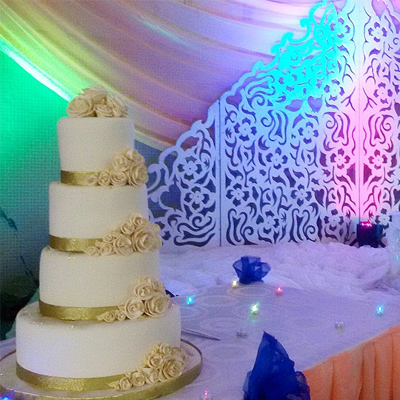 Golden Wedding Cake online Nigeria