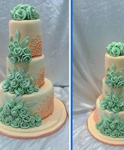 three step wedding cake
