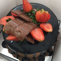 chocoberry birthday cake