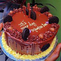 choco burst birthday cake