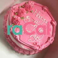 pinkish cream cake online lagos abuja