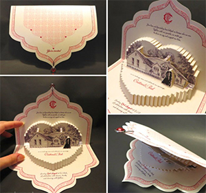 pop-up wedding invite