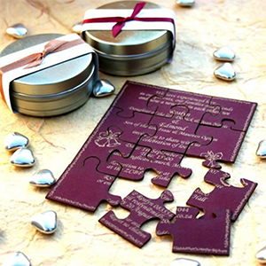puzzle wedding invite