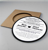 cd wedding invite
