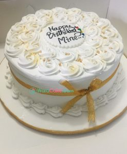 white golden cake