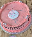 maroon cake