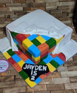 LEGO toy cake